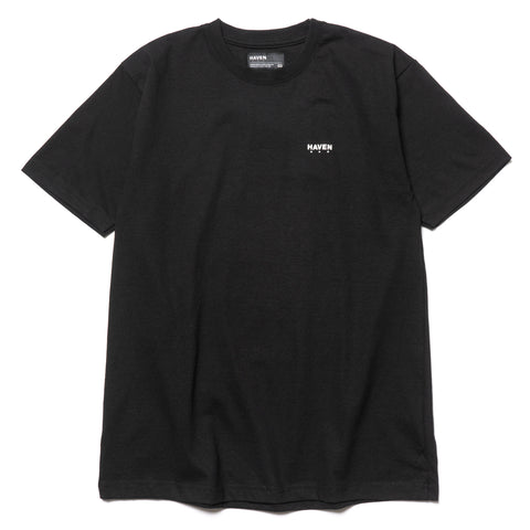 haven Chest Logo - T-Shirt Black/White