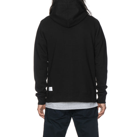 haven Chest Logo - Zip Up Hoodie Black/White