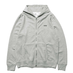 haven Chest Logo - Zip Up Hoodie H. Gray
