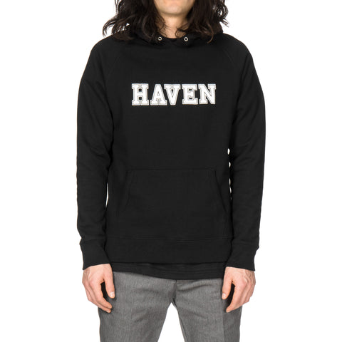 HAVEN Collegiate Logo French Terry Pullover Hoodie Black
