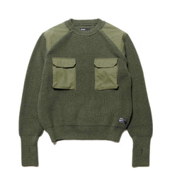 HAVEN Commando BDU Sweater - Wool Olive, Knits