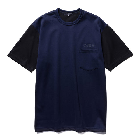 Comme des Garcons HOMME Cotton Jersey x Polyester Jersey Tee Navy, T-Shirts