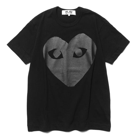 Comme des Garcons PLAY Cotton Jersey Print Black Heart Tee Black (T190), T-Shirts