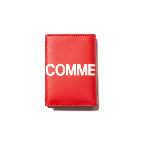 Comme Des Garcons Wallet Big Logo Bi Fold Wallet Red, Wallets