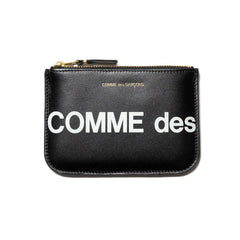 Comme des Garcons WALLET Big Logo Group Zip Pouch Black, Accessories