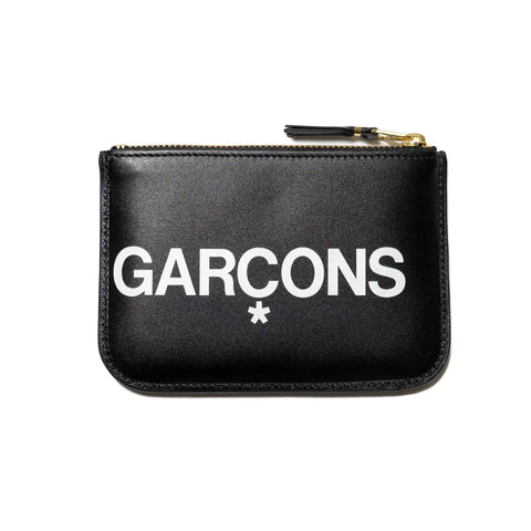 Comme Des Garcons Wallet Big Logo Group Zip Pouch Black, Wallets