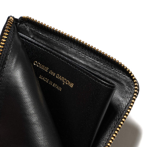 Comme Des Garcons Wallet Big Logo Half Zip Wallet Black, Wallets