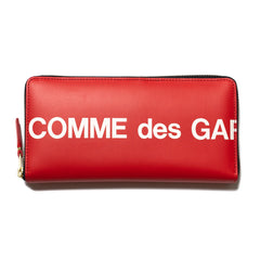 Comme Des Garcons Wallet Big Logo Long Wallet Red, Wallets