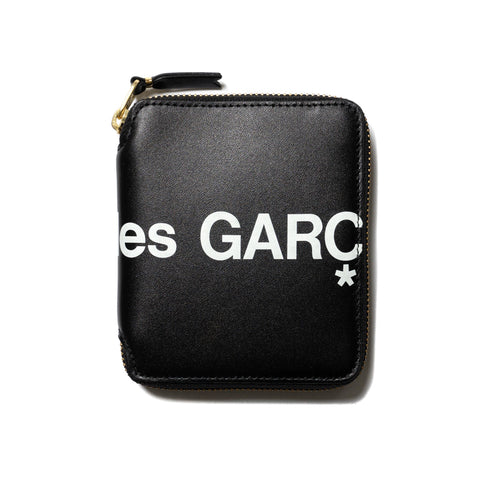 Comme des Garcons WALLET Big Logo Full Zip Wallet Black, Accessories
