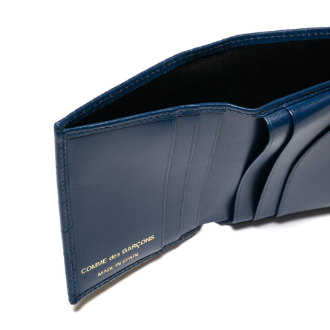 Comme des Garcons WALLET Brick Line Bi Fold Wallet Blue, Wallets