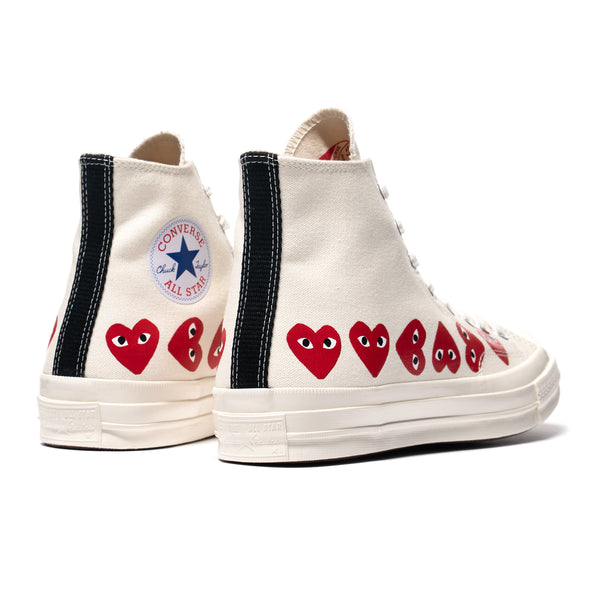 innovative design vivid and great in style choose genuine x Converse Chuck 70 Multi Heart High Egret