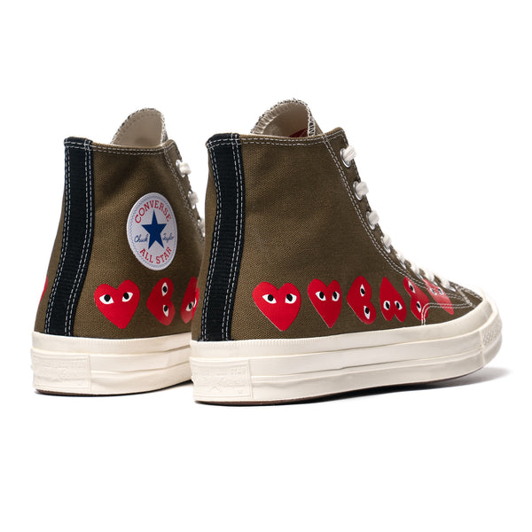 sin embargo tuyo lote  x Converse Chuck 70 Multi Heart High Fir Green – HAVEN