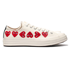 Comme des Garcons PLAY x Converse Chuck 70 Multi Heart Low Egret, Footwear