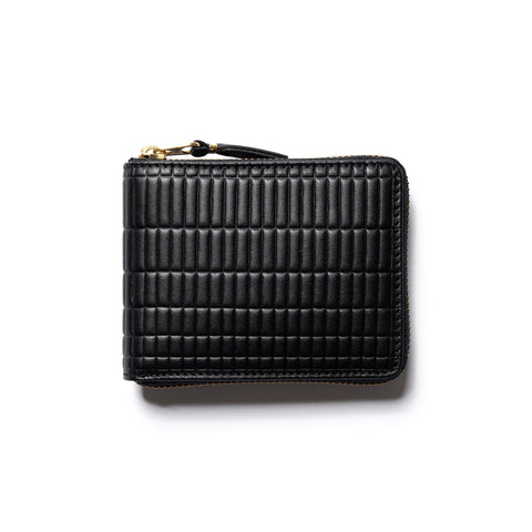 Comme des Garcons WALLET Brick Line Small Full Zip Wallet Black, Accessories