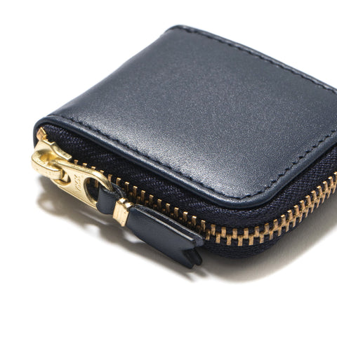 Comme des Garcons WALLET Classic Line Leather Coin Case Navy, Wallets