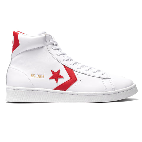 Converse Pro Leather Hi White/University Red, Footwear
