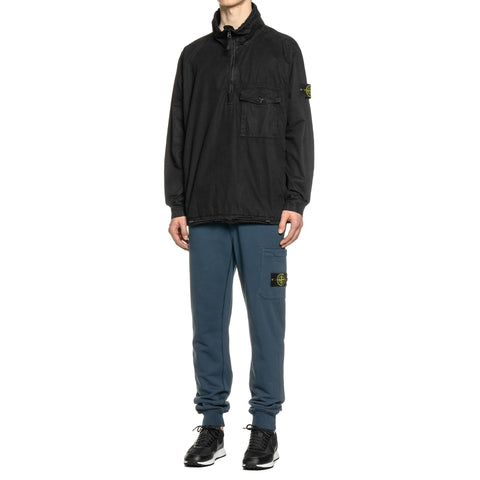 Stone Island Cotton Fleece Garment Dyed Slim Fit Sweat Pant Blue Marine, Bottoms