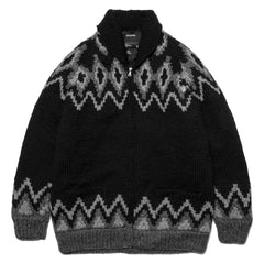 HAVEN Canadian Hand Knit Zip Sweater Black, Jackets