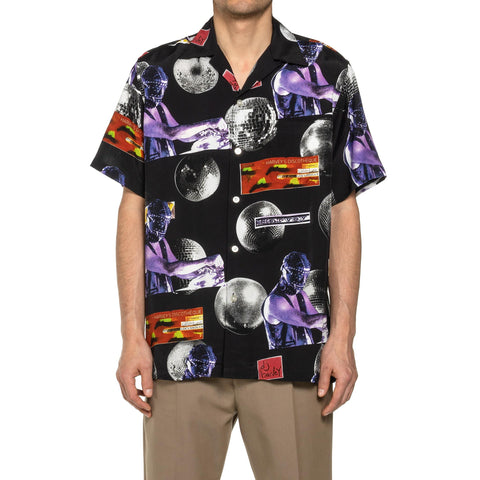 Wacko Maria x DJ Harvey S/S Hawaiian Shirt Black, Tops