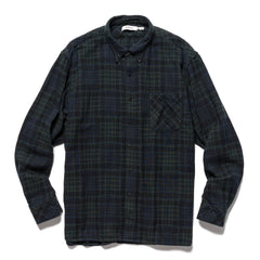 nonnative Dweller B.D. Shirt Relaxed Fit Patchwork Jacquard Double Gauze Navy, Shirts