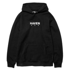 HAVEN Heavy Weight Embroidered Core Logo Pullover Hoodie Black/White, Sweaters