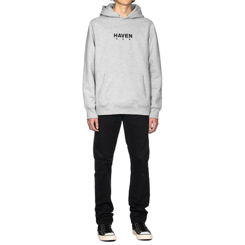 HAVEN Heavyweight Embroidered Core Logo Pullover Hoodie H.Gray, Sweaters