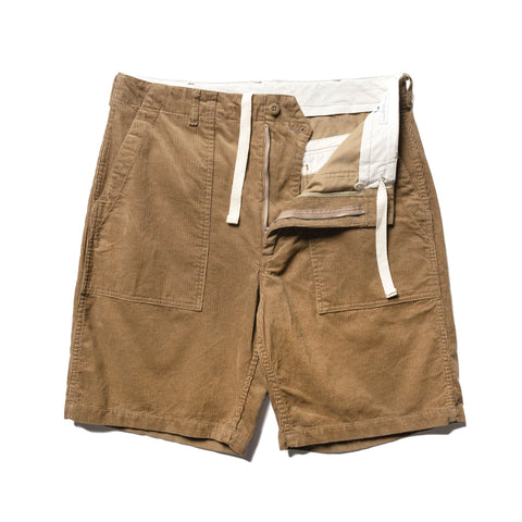 Engineered Garments 14W Corduroy Fatigue Short Khaki, Bottoms