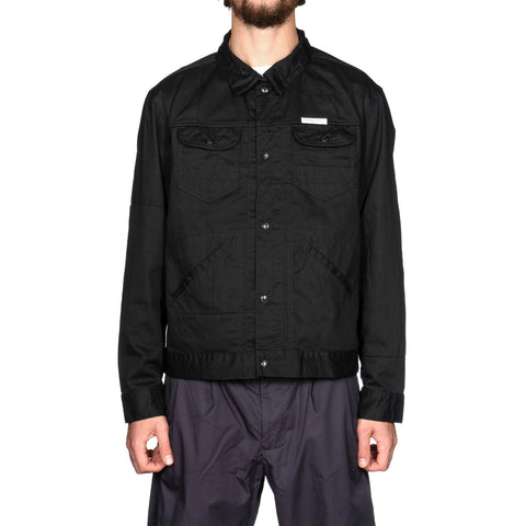 Engineered Garments 6.5oz Flat Twill Trucker Jacket Black, Jackets