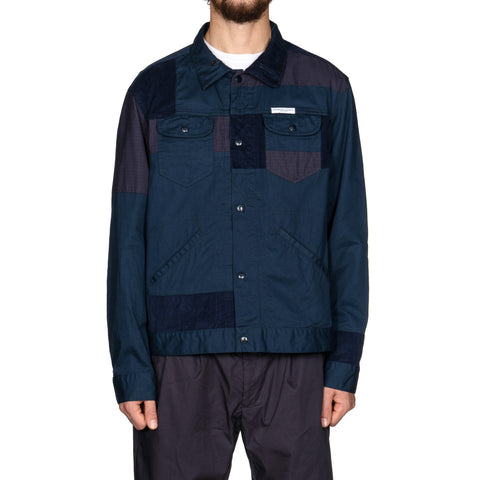 Engineered Garments 6.5oz Flat Twill Trucker Jacket Navy, Jackets