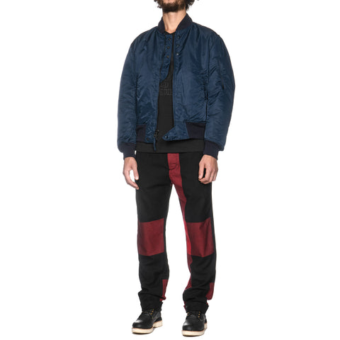 Engineered Garments Andover Pant Big Plaid Worsted Wool Flannel Black