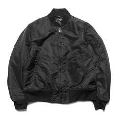 Engineered Garments Aviator Jacket Flight Sateen Black