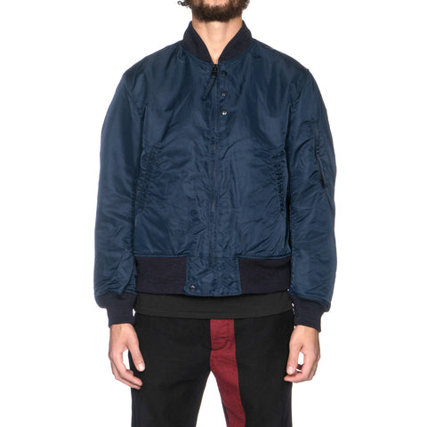Engineered Garments Aviator Jacket Flight Sateen Dk. Navy