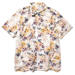 Engineered Garments Botany Printed Lawn Camp Shirt White, Tops