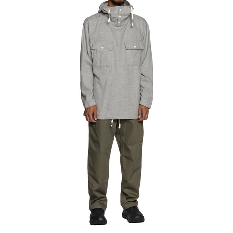 Engineered Garments Brushed Cotton Twill Cagoule Shirt Light Gray, Shirts