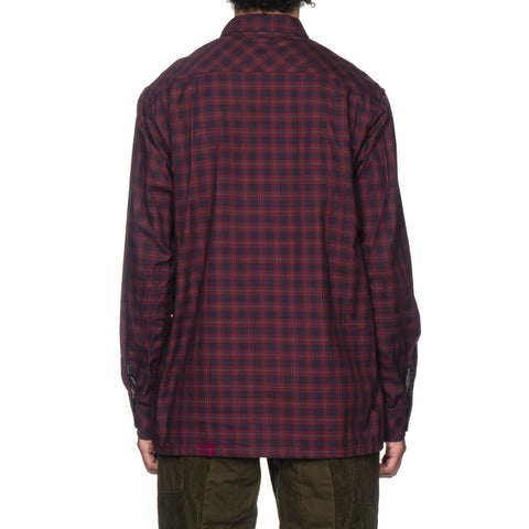 Engineered Garments Classic Shirt Windowpane Red/Navy/Lt. Blue