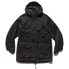 Engineered Garments Cotton Double Cloth Field Parka Black, Outerwear