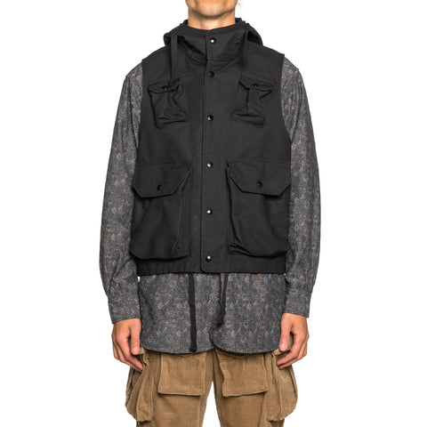 Engineered Garments Cotton Double Cloth Field Vest Black, Outerwear