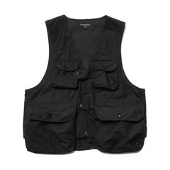 Engineered Garments Cotton Double Cloth Game Vest Black, Outerwear