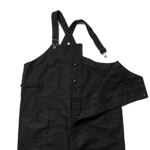 Engineered Garments Cotton Double Cloth Overalls Black, Bottoms