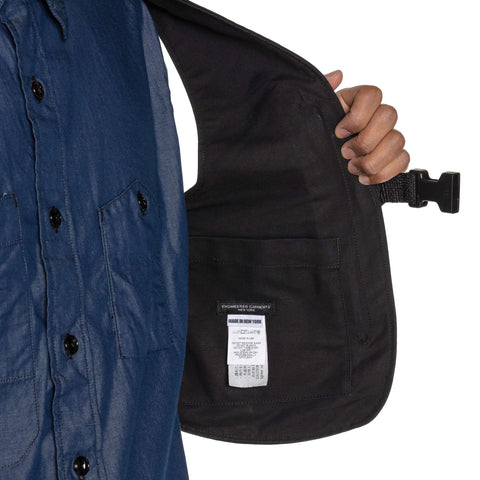 Engineered Garments Cotton Double Cloth Shoulder Vest Black, Accessories