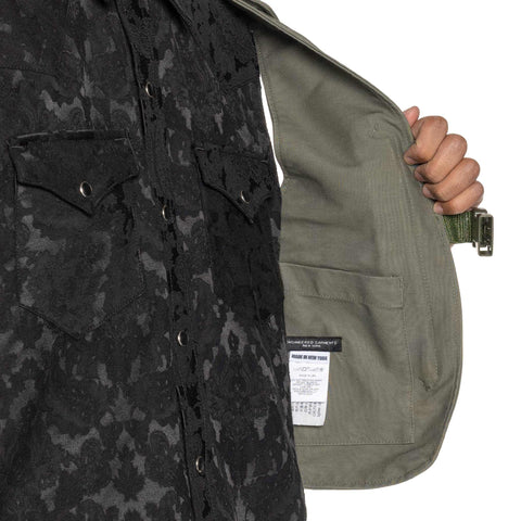 Engineered Garments Cotton Double Cloth Shoulder Vest Olive, Accessories