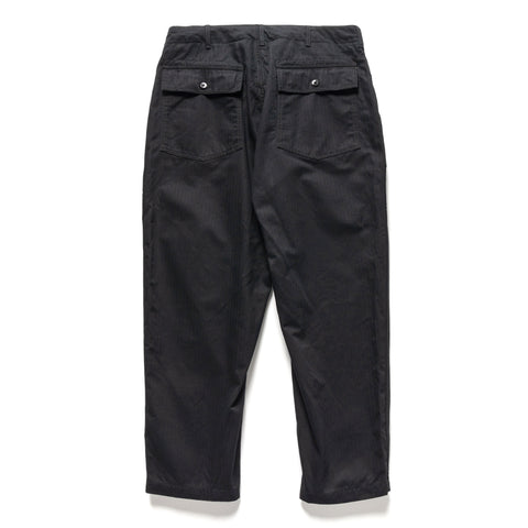 Engineered Garments Cotton Herringbone Fatigue Pant Black, Bottoms