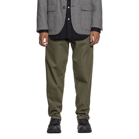 Engineered Garments Cotton Herringbone Twill Wide Peg Jean Olive, Bottoms