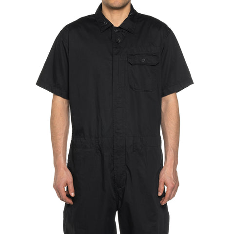 Engineered Garments Cotton Nano Twill Combi Suit Black, Tops