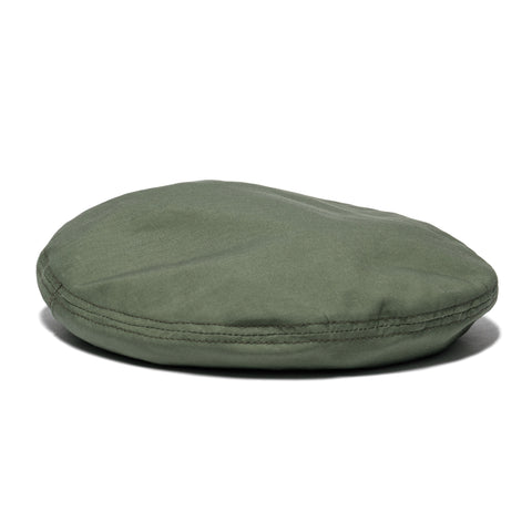 Engineered Garments Cotton Ripstop Beret Olive, Headwear