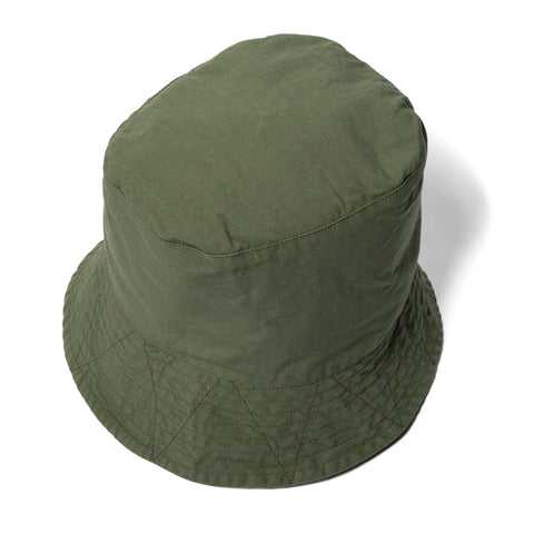 Engineered Garments Cotton Ripstop Bucket Hat Olive, Headwear