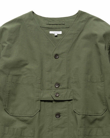 Engineered Garments Cotton Ripstop Cardigan Jacket Olive, Outerwear