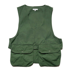 Engineered Garments Cotton Ripstop Fowl Vest Olive, Vests