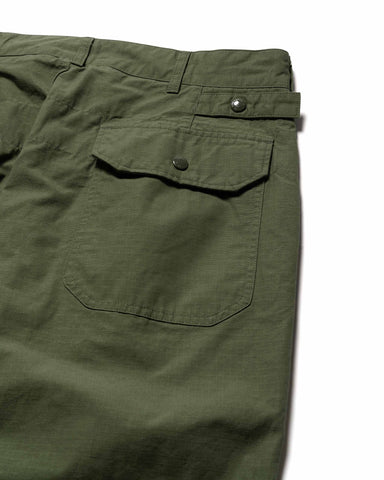 Engineered Garments Cotton Ripstop Ground Pant Olive, Bottoms