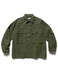 Engineered Garments Cotton Ripstop M43/2 Shirt Jacket Olive, Outerwear
